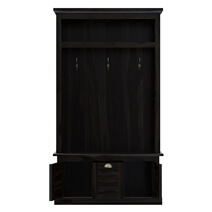 Naturita Rustic Solid Wood 1 Drawer Hall Tree