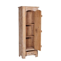 Sherrodsville Distressed Reclaimed Wood Barn Door Tall Armoire