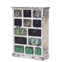 Calvert Distressed Reclaimed Wood 13 Drawer Dresser