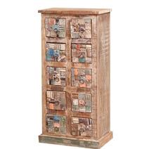 Brantley Mosaic Distressed Reclaimed Wood 10 Drawer Tall Dresser