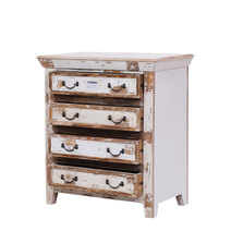 Leigh Distressed Reclaimed Wood Rustic Furniture 4 Drawer Dresser