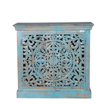 Andersonville Hand Carved Reclaimed Wood Buffet Storage Cabinet