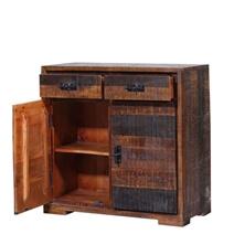 Beowawe Dual Toned Reclaimed Wood 2 Drawer Rustic Buffet Cabinet