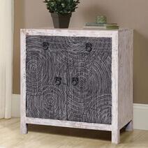 Waynesfield Mandala Reclaimed Wood 2 Drawer Rustic Buffet Cabinet