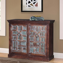 Bishopville Handcrafted Reclaimed Wood Rustic Storage Cabinet