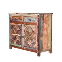 Alton Reclaimed Wood 2 Drawer Small Buffet Cabinet