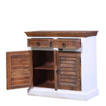 Atkinson Shutter Door Reclaimed Wood 2 Drawer Small Buffet Cabinet