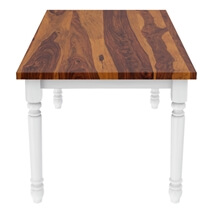 Proberta Two Tone Solid Wood Rustic Dining Table