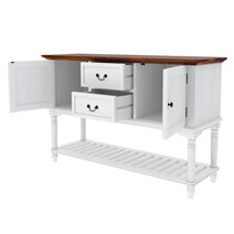 Proberta Two Tone Solid Wood 2 Drawer Rustic Buffet Table