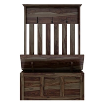 Roeville Rustic Solid Wood Coat Rack Hall Tree Bench with Storage