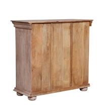 Valeska Brass Metal Distressed Wood Storage Cabinet