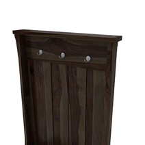 Milville Rustic Solid Wood Entryway Hall Tree with Shoe Storage
