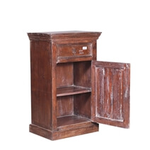 Robards Reclaimed Wood Single Drawer Storage Cabinet