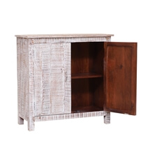 Phelps Handcrafted Distressed Reclaimed Wood Storage Cabinet