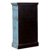 Norwood Mandala Pattern Distressed Reclaimed Wood Storage Cabinet