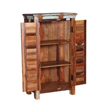 Mackville Shutter Door Rustic Reclaimed Wood Storage Cabinet