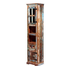 Latonia Rustic Reclaimed Wood Tall Storage Cabinet