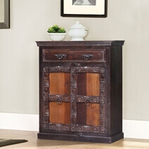 Altoona Solid Reclaimed Wood Single Drawer Storage Cabinet