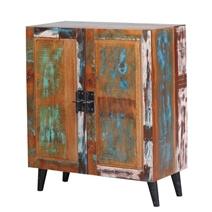Randlett Distressed Reclaimed Wood Rustic Storage Cabinet