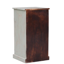 Unioplois Distressed Reclaimed Wood 6 Drawer End Table
