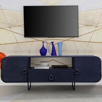 Manvel Industrial Iron TV Stand Media Console