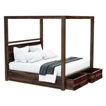 Farson Contemporary 4 Piece Rustic Bedroom Set