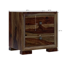 Farson Contemporary 2 Drawer Rustic Nightstand