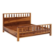 Laspor 4 Piece Rustic Solid Wood Bedroom Set