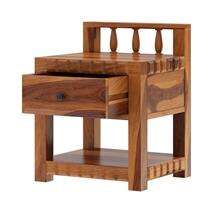 Laspor Rustic Solid Wood 1 Drawer Nightstand