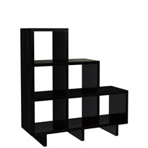 Vallejo Solid Wood Stair Step Bookcase