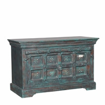 Dayton Distressed Reclaimed Wood Front Open Storage Bench
