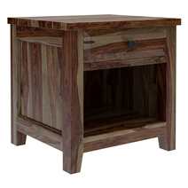 Irvin Contemporary Rustic Solid Wood 1 Drawer Nightstand
