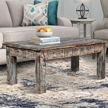 Parkdale Handcrafted Distressed Reclaimed Wood Rustic Coffee Table