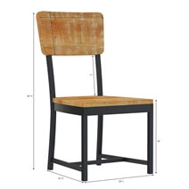 Salineno Rustic Mango Wood Industrial Dining Chair