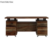 Hondah Solid Wood 70 Large Office Executive Desk with Dual Sided Storage