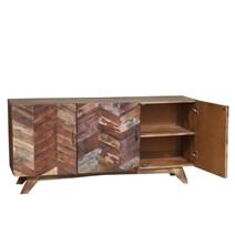 Pensford Parquet Reclaimed Wood 3 Door Rustic Buffet Cabinet