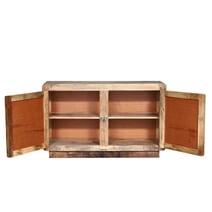 Beclabito Rustic Reclaimed Wood 2 Door Storage Cabinet