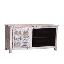 Davenport Rustic Reclaimed Wood Handcrafted TV Stand Media Console
