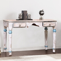 Forsan Distressed Reclaimed Wood 2 Drawer Console Table