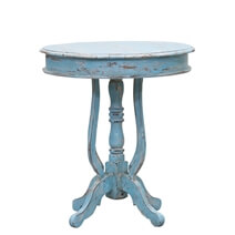 Treyvon Distressed Reclaimed Wood Round End Table