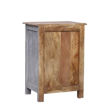 Hereford Reclaimed Wood Handcarved 1 Drawer Nightstand