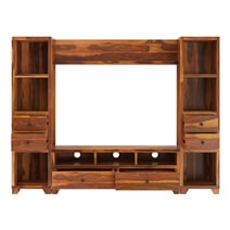 Traver Rosewood Wall Unit TV Console Entertainment Center