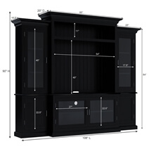 Baltimore Solid Wood Entertainment Center For TVs Up To 55