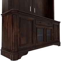 Honduras Rustic Solid Wood Entertainment Center