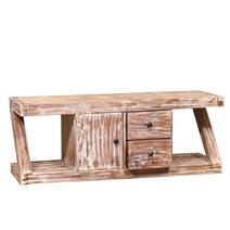Cokeville Distressed Reclaimed Wood 2 Drawer Z Shape Tv Media Cabinet