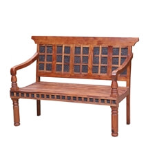 Coalmont Handcrafted Rustic Reclaimed Wood Patio Bench