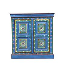 Abilene Solid Wood Hand Painted Kitchen Storage Cabinet