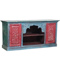 Askewville Hand Carved Reclaimed Wood Tv Stand Media Consoles