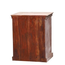 Alamance Handcrafted Reclaimed Wood 3 Drawer Nightstand