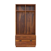 Barlow Rustic Solid Wood Entryway Hall Tree With Storage